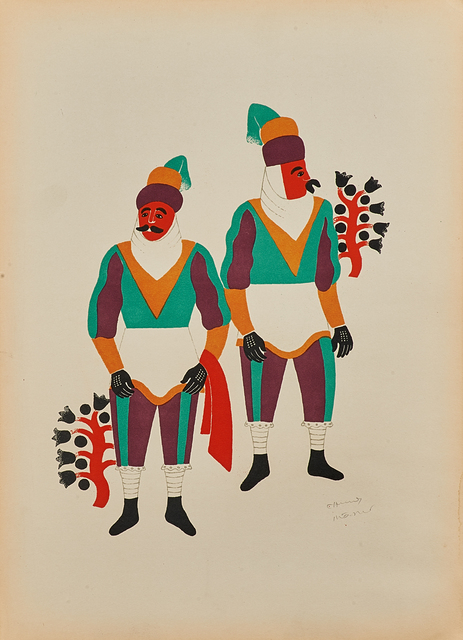 , 'Two Men From Ocotoxco Dressed as Moors,' 1940, Hecho a Mano