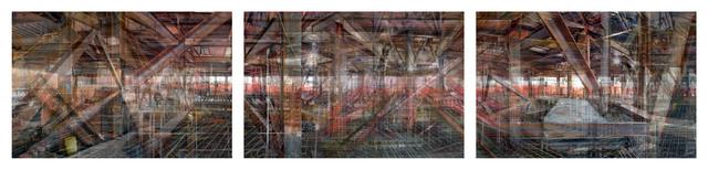 , 'W.T.C: Concrete Abstract #8 (Triptych),' 2011-2013, Julie M Toronto