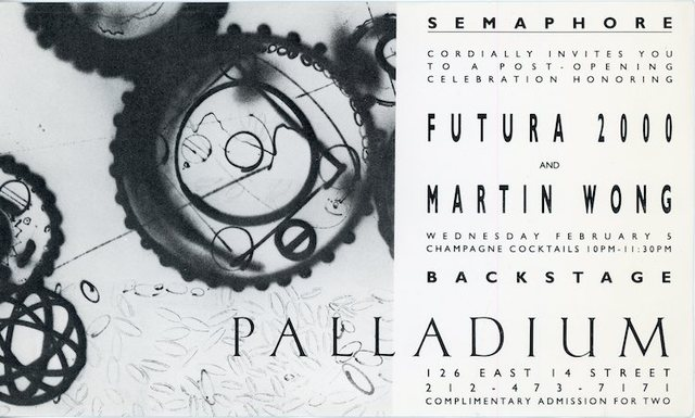 Futura, 'Semaphore / Palladium, Futura 2000 & Martin Wong, Card', 1986, James Fuentes