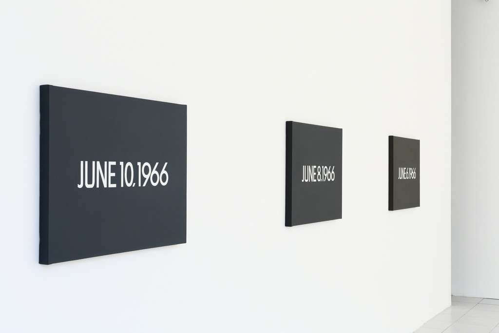 On Kawara, 1966 / Courtesy David Zwirner, New York/London (photo: Rik Vannevel)