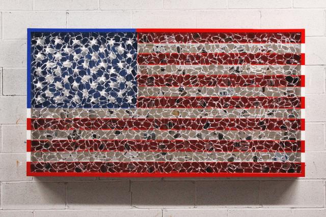 David Datuna, 'USA Color Flag', 2019, Galleria Ca' d'Oro