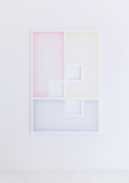 , 'Untitled (Composition with Stretchers, 3 Colours and 3 Open Parts ),' 2018, Galería Combustión Espontánea