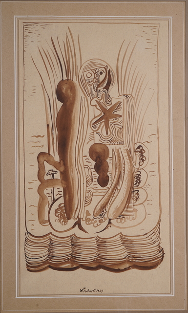 Henryk Streng/ Marek Włodarski, 'Seascape with a Starfish', 1929, Drawing, Collage or other Work on Paper, Ink on paper, Olszewski Gallery
