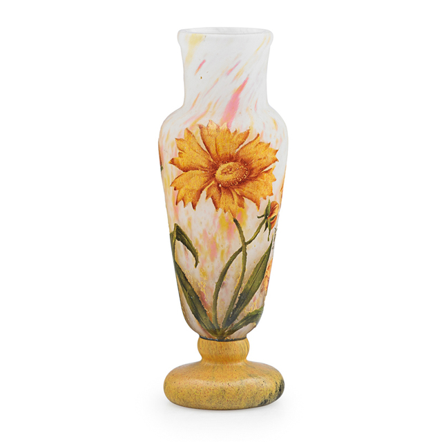 Daum, 'Small Vase With Coreopsis, France', Early 20th C., Rago/Wright