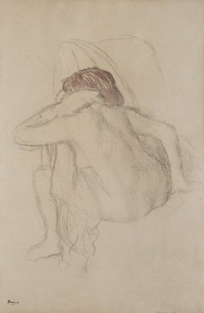 Edgar Degas, 'Femme s'essuyant', 1888-1892, Drawing, Collage or other Work on Paper, Lithographic print enhanced with colours, HELENE BAILLY GALLERY