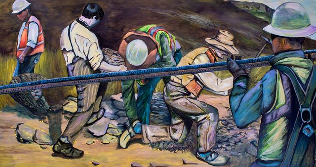 Augustine Chavez, 'A System of Workers', 2017, Painting, Oil on Panel, The Contemporary Art Modern Project