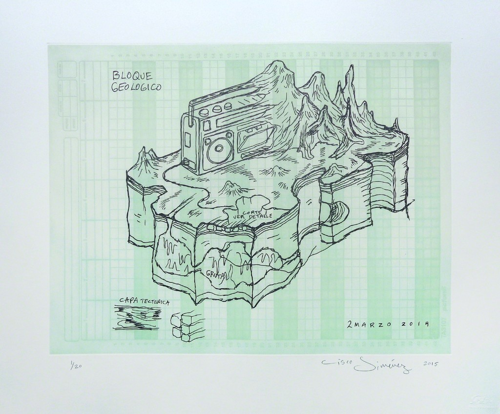 Bloque geologico (green) - Framed