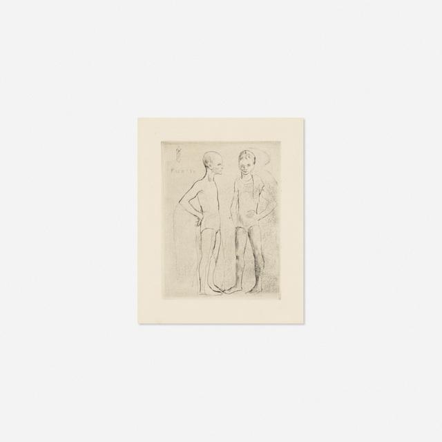 Pablo Picasso, 'Les Deux Saltimbanques from La Suite des Saltimbanques', 1905, Rago/Wright