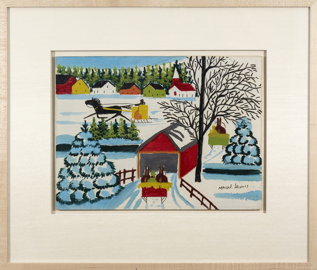 Maud Lewis, 'Covered Bridge with Three Sleighs', Oeno Gallery