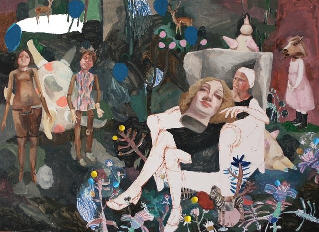 , 'Marlene reposando entre las rodillas de Marlene,' 2018, Anquins Galeria