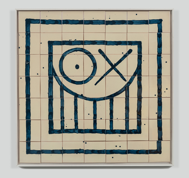 André Saraiva, 'Square Mr. A Tile 3', 2018, Mixed Media, Hand-painted tiles, Underdogs Gallery
