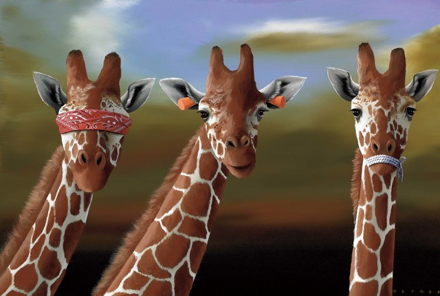 Robert Deyber, 'See No Evil, Hear No Evil, Speak No Evil (Giraffes)', 2011, Martin Lawrence Galleries