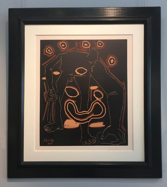 Pablo Picasso, 'L'Homme au Bâton', 1963, Print, Linocut on Arches paper, Galerie Jean-François Cazeau