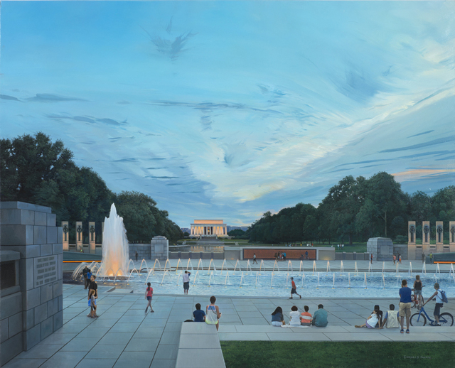 , 'Looking from the WWII Memorial to the Lincoln Memorial,' 2014, Bernarducci Gallery Chelsea