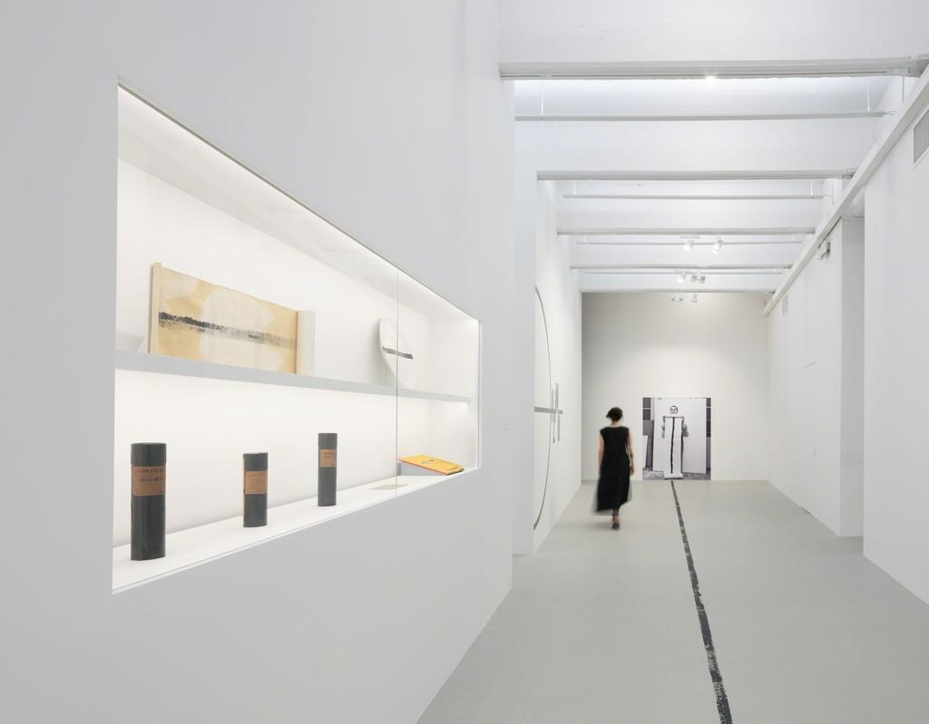 Installation view, 'Piero Manzoni. Lines,' Hauser & Wirth New York, 22nd Street, 2019 © Fondazione Piero Manzoni, Milano; Courtesy of the Foundation and Hauser & Wirth; Photo: Thomas Barratt