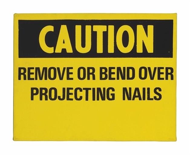 Andy Warhol, 'Caution', Christie's
