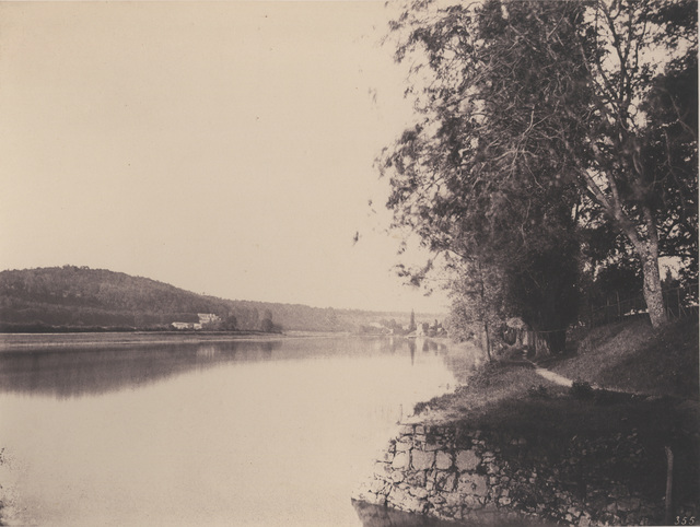 ", '""La Seine a Thomery"",' ca. 1860, Lee Gallery"