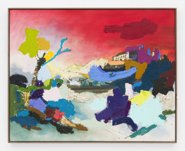 , 'The trees are bent over from the wind, it has become cooler, and something is finally escaping, breaking through.,' 2017, Johannes Vogt Gallery