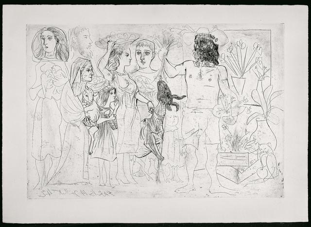 Pablo Picasso, 'Paris, 14 Juillet 42 - L'Homme au mouton', 1942, John Szoke