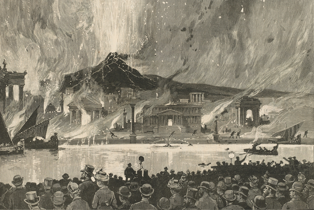 """, 'Fire-Works at Manhattan Beach—""""The Last Days of Pompeii"""",' Published in Harper's Weekly, July 25, 1885, Clark Art Institute"""