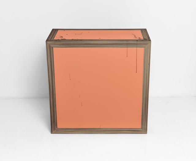 Kaz Oshiro, 'Pedestal (wood/grain/orange)', 2007, Painting, Acrylic on stretched canvas, Mireille Mosler Ltd.
