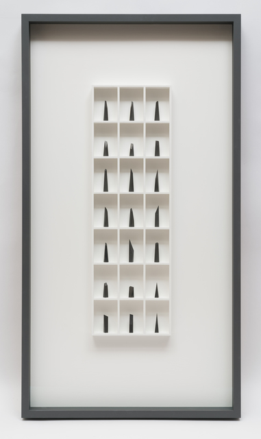 Paul Fry, '21 pieces of graphite (the edge of silence)', 2019, bo.lee gallery