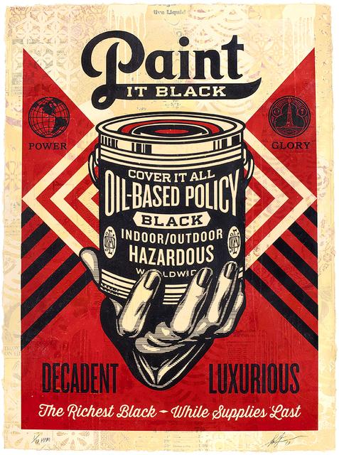 Shepard Fairey, 'Paint it Black', 2019, Samuel Owen Gallery