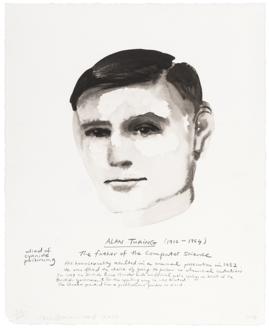 Marlene Dumas, 'Alan Turing', 2015, Forum Auctions