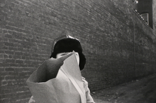 , 'Hat and Bag in Alley, Mkt St Hgts,' 1974, Bruce Silverstein Gallery