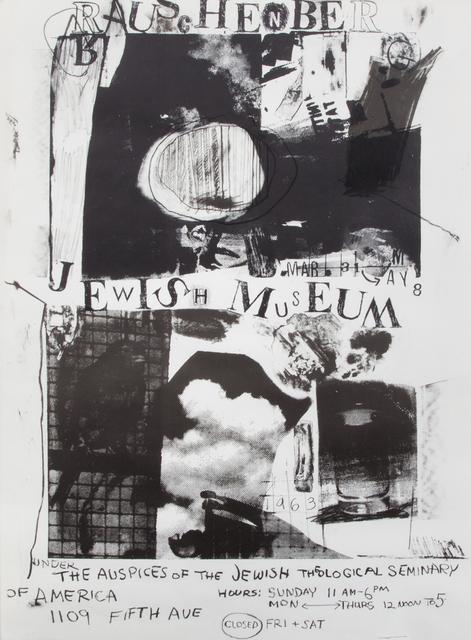 Robert Rauschenberg, 'Jewish Museum', 1963, Print, Offset lithograph on paper, Julien's Auctions