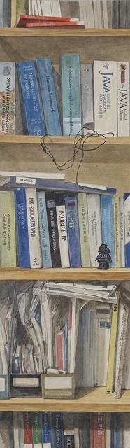 , 'Pile of books II,' 2013, Artflow