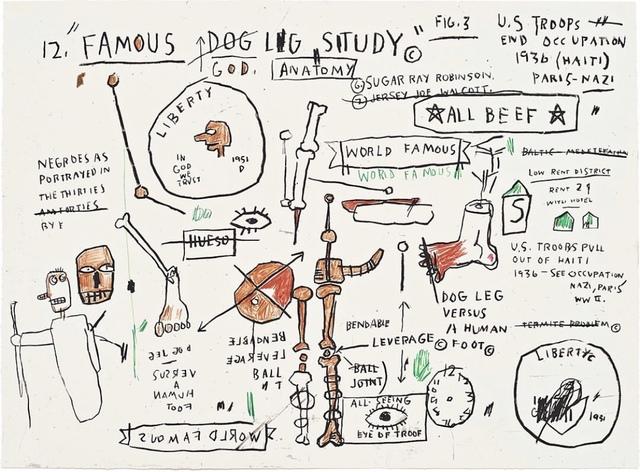 Jean-Michel Basquiat, 'Dog Leg Study', 2019, DANE FINE ART