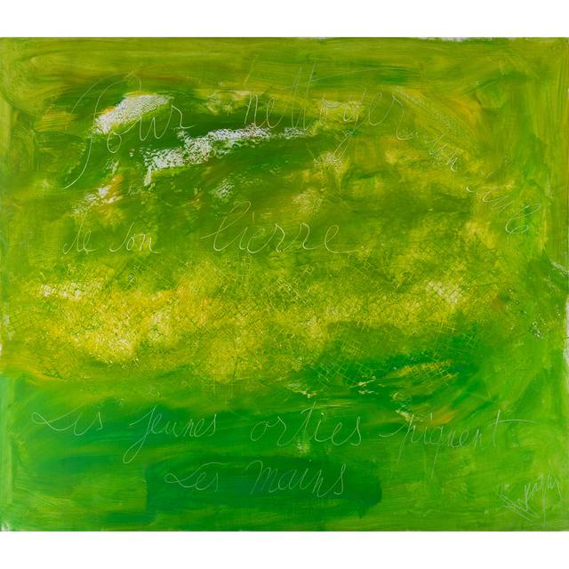 Jean Messagier, 'Pour nettoyer de son lierre, les jeunes orties piquent les mains', 1975, PIASA