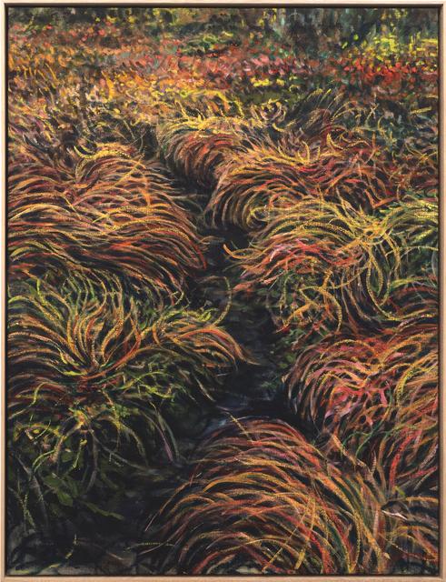 Eemil Karila, 'Wet Tussocks', 2021, Painting, Ink, tempera and oil on linen, MAKASIINI CONTEMPORARY