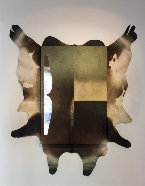 Julián Prebisch, 'Moustache', Painting, Acrylic and metal on cowhide, MAMAN Fine Art Gallery