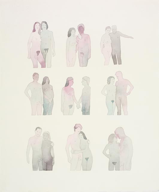 , 'Nine Nudist Couples ,' 2011, FMLY