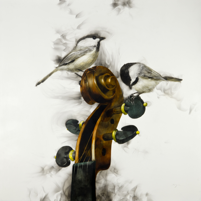 , 'Chickadees on a Fiddlehead,' 2017, Adelson Galleries