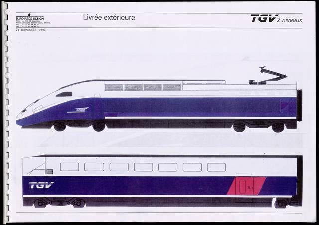 , 'TGV Duplex external livery,' 1994, Les Arts Décoratifs