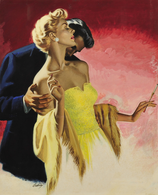 Earl Somers Cordrey, 'Man Kissing Woman's Neck', 1954, The Illustrated Gallery