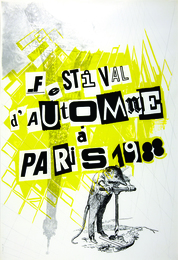 Sigmar Polke, Plakat Festival d'Automne a Paris, 1988 © The Estate of Sigmar Polke, Cologne, VG Bild-Kunst, Bonn 2016, Photo baumann fotostudio gmbh