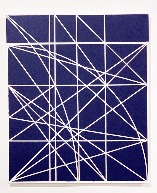 Clifford Singer, 'Untitled, Study for Blue Progression', 1979, Painting, Acrylic on Canvas, iMuseum Vegas