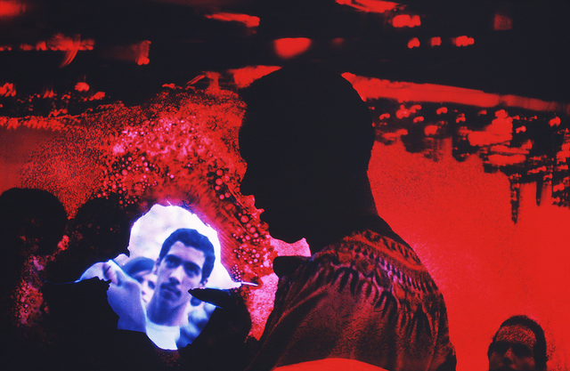 Mitchell Funk, 'Burned Emulsion Double Portrait with Inverted New York Skyline and Red Filter ', 1969, Robert Funk Fine Art
