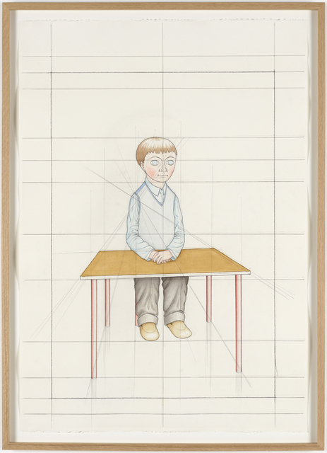 , 'An Attempt at Reconstructing my Elementary School Class, Based on my Memory (34),' 2012, Galleri Nicolai Wallner