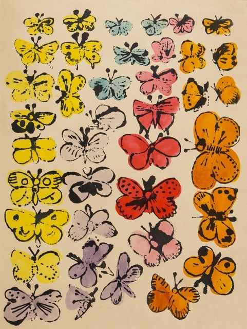Andy Warhol, 'Happy Butterfly Day', circa 1955, Print, Offset-lithograph with extensive hand-colouring in watercolour, Forum Auctions