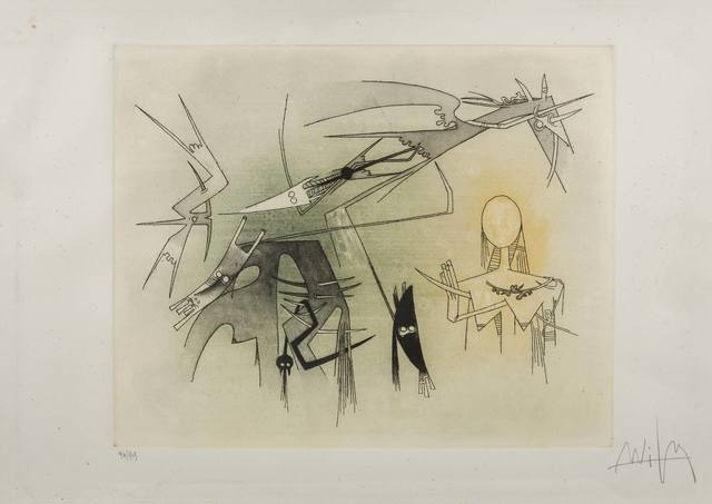 Wifredo Lam, 'Visibile Invisibile', 1972, Print, Etching and aquatint on Goya paper, ArtRite