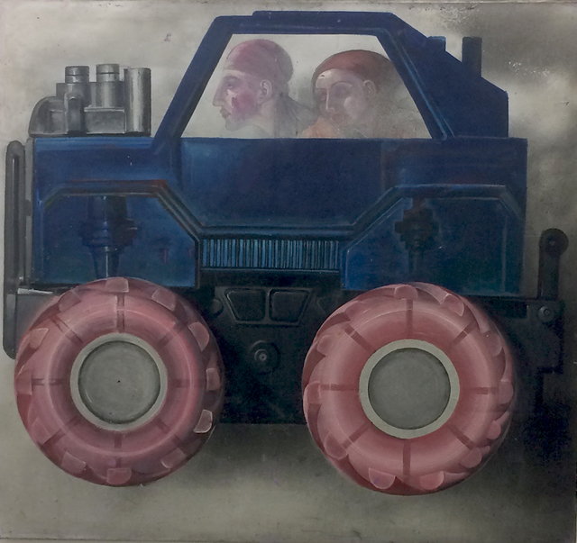 , 'Pink Wheels,' 1996, Robert Kananaj Gallery