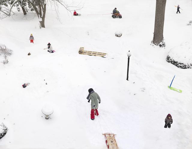 Julie Blackmon, 'Snow Days', 2021, Photography, Archival pigment print, Robert Mann Gallery