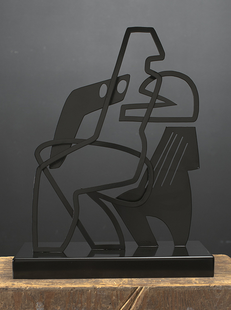 , 'Woman Seated on Chair with Stripes,' 2019, Wally Workman Gallery