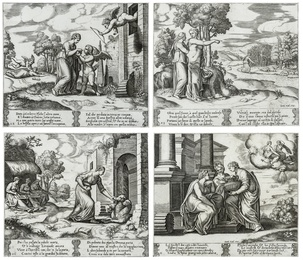Four scenes from the The fable of Cupid and Psyche