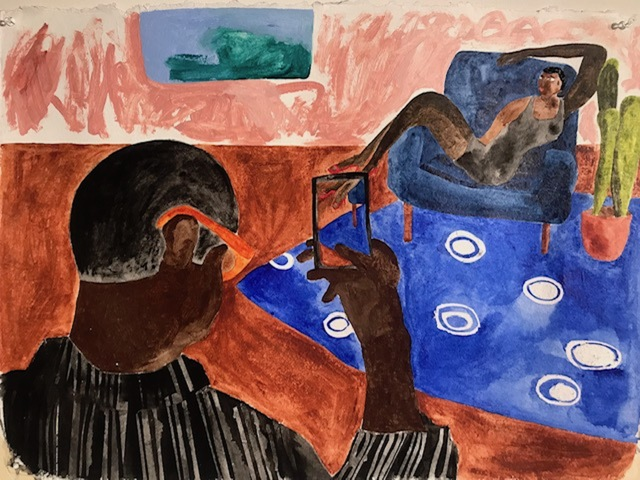 Marcus Leslie Singleton, 'Getting Ready', 2018, Painting, Watercolor, Superposition